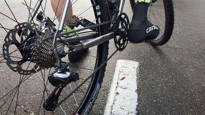 Dr. Pain's Quiring rig fitted with Ultegra Di2.