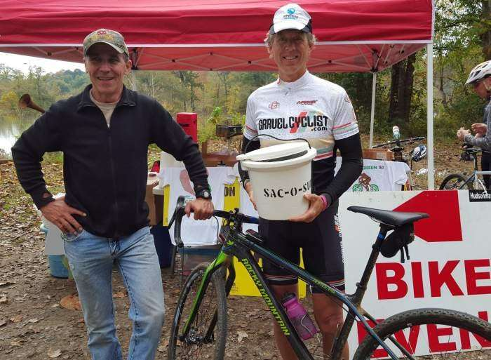 Rusty of Gravel Cyclist with Monte, promoter extraordinaire.