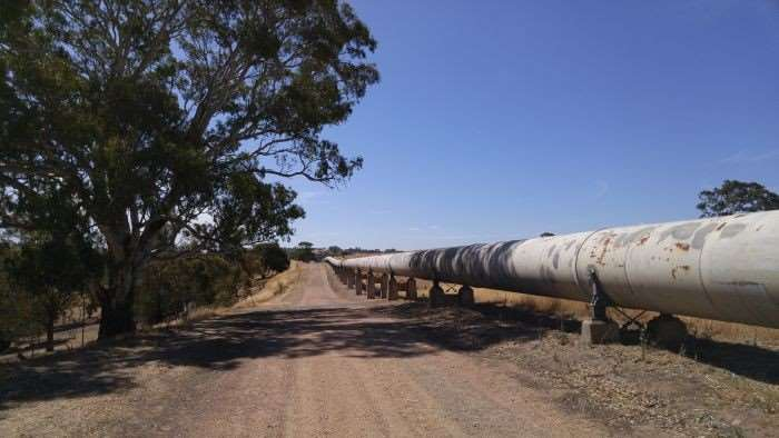 Part of the Mannum to Adelaide water pipeline.