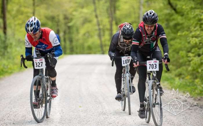 Photo by TMB Images. Riders suffering on Oriole Road. #703 is Charlie's brother, Alex.