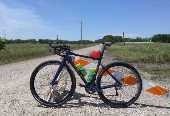 My steed at Dirty Kanza gravel mile #1.