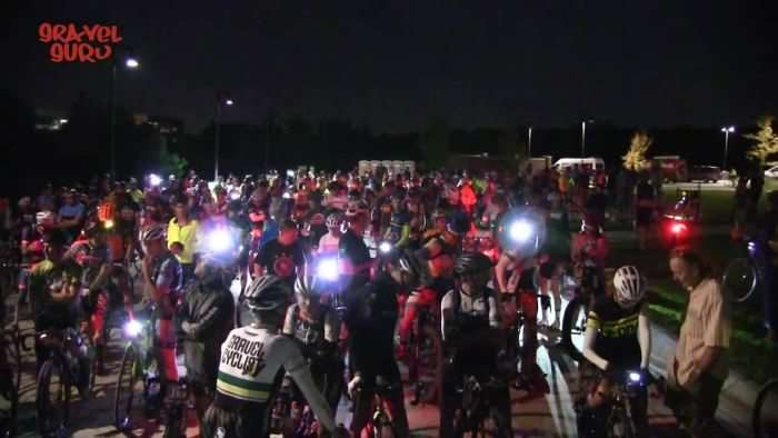 Over 250 riders awaiting the start. Photo by Gravel Guru.
