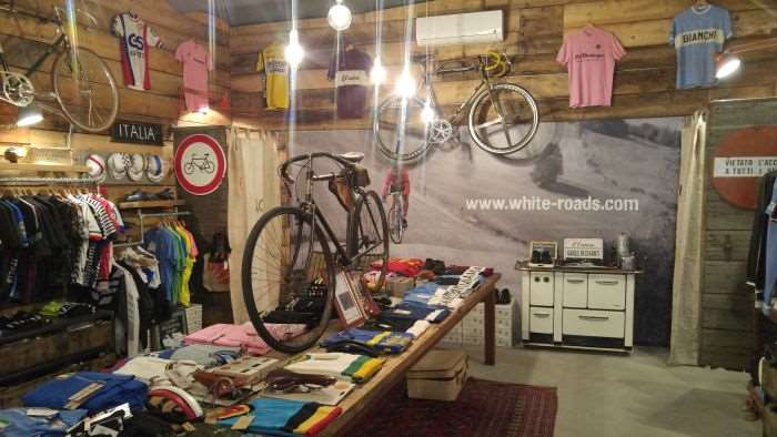 Further inside the L'Eroica shop.