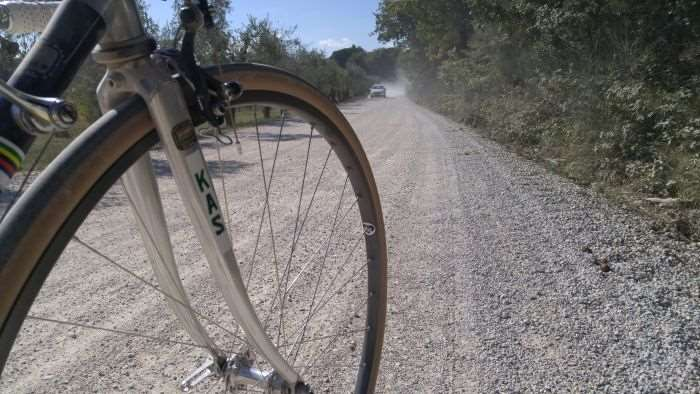 Tuscan gravel. A true gravel bike would be more at home vs a retro road bike.