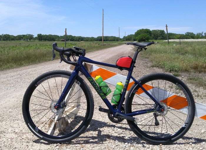 Panaracer Gravelking SK's in 700c x 40mm - before the 2016 Dirty Kanza 200.
