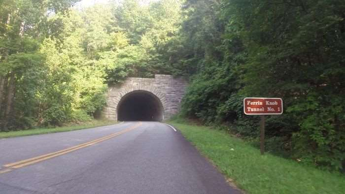 One of the many tunnels leading to Mount Pisgah.