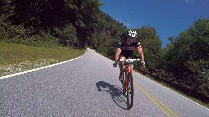 Brian Conroy on the 215 descent.