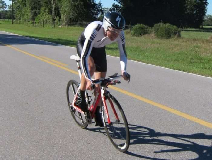 A time trial from another time. I should have been riding this bike. D'oh!