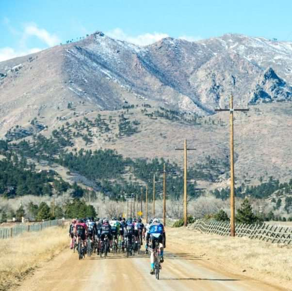 Riders approach the foothills heading out from Lyons towards REEB Ranch. These dirt roads are second to none. Photo by Eddie Clark.