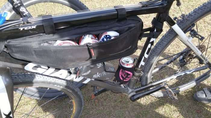 Terra Firma Cycling's beer can stash post ride.