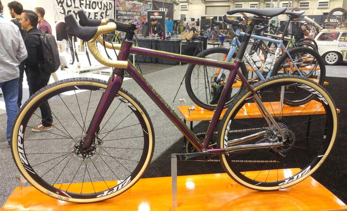 enigma bicycle works titanium gravel bike nahbs