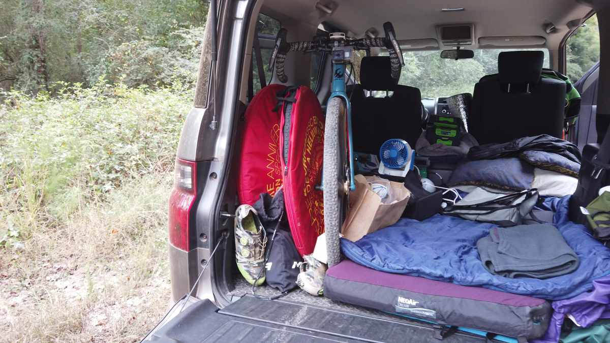 car camping with your bicycle
