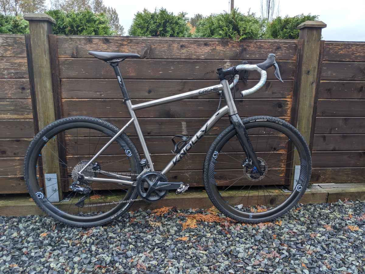 knolly bikes cache titanium gravel bike