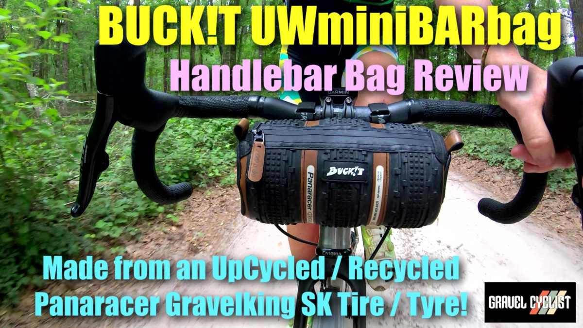 handlebar bag made from bicycle tires